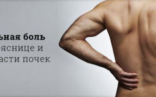 Основные причины боли в спине в районе почек