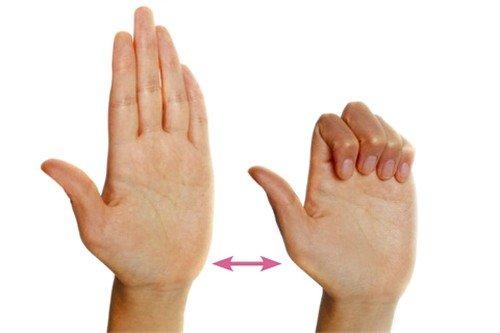 двигаем пальцами для проявления недуга