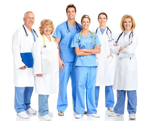 разные врачи на одном фото