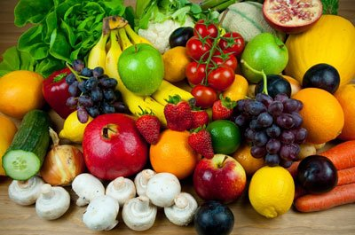 фрукты и овощи при восполении