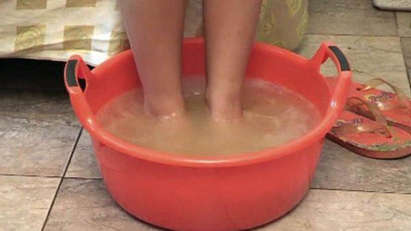 ванна для ног с йодом