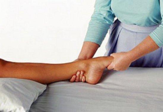 массаж голеностопа