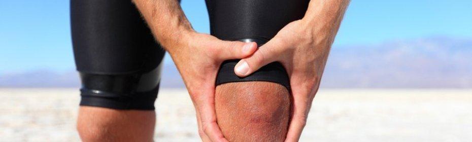 не сильное растяжение колена