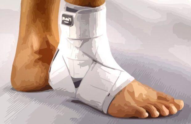 бинт для растяжений ноги